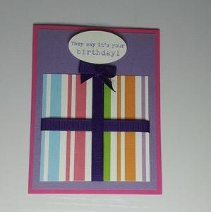 Birthday Present Card Handmade